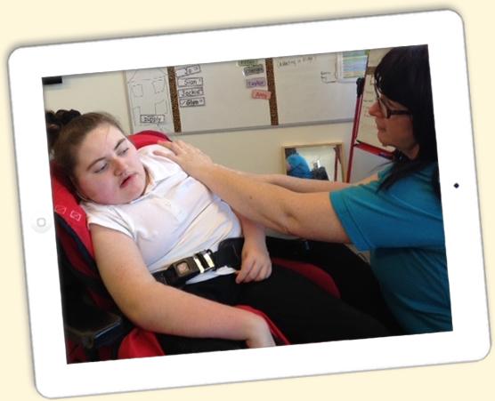 child in wheelchair story massage